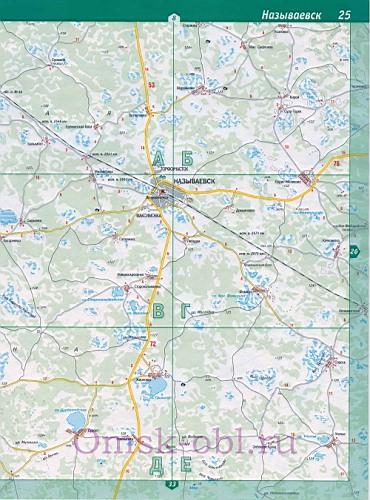 карта называевска омской