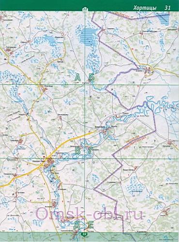 Топографическая Карта Омская Область