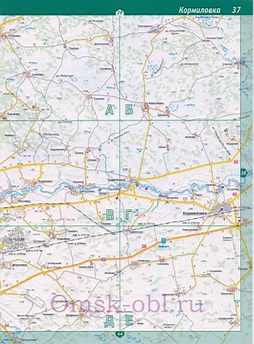 Карта Оконешниковского Района